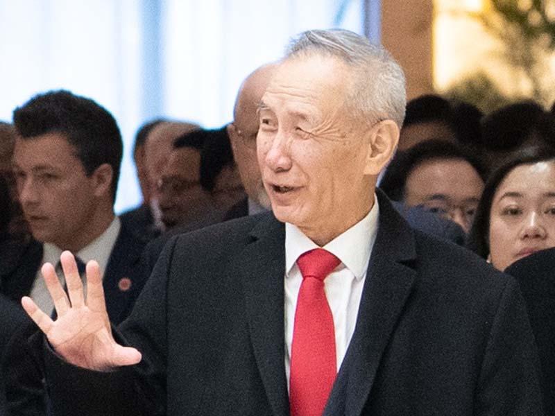 劉鶴表示若貿易戰升級,將不利全世界的利益。新華社