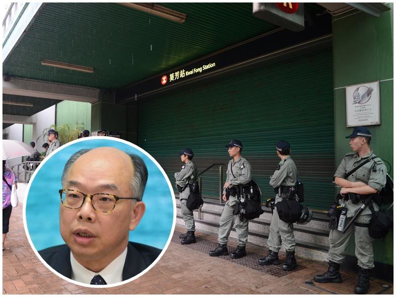陳帆(小圖)指港鐵關閉車站逼不得已。資料圖片