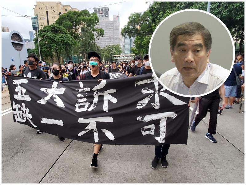 鍾國斌(小圖)指撤回修例的訴求可行。資料圖片