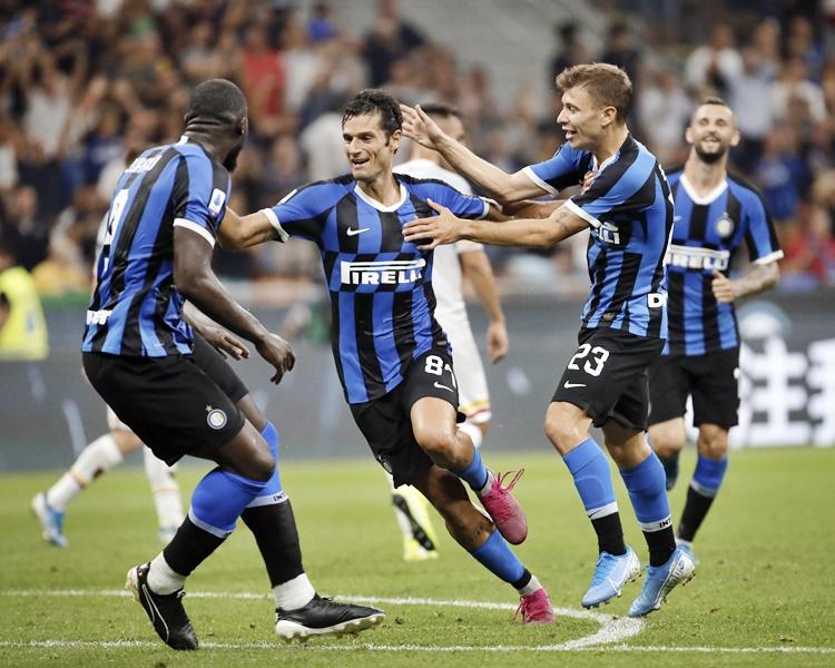 國際米蘭主場以4:0大勝升班馬萊切。AP