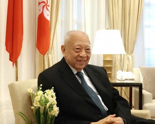 【唯一香港代表】董建華獲提名國家榮譽稱號建議人選