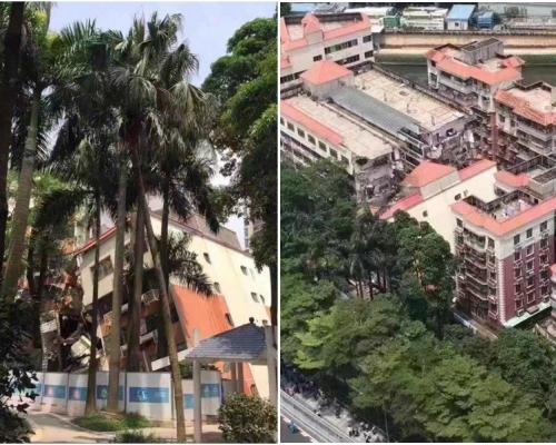 羅湖6層高樓宇倒塌 警疏散附近民眾