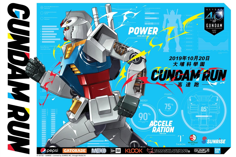 全球首個「Gundam Run高達跑」將於2019年10月20日於香港科學園舉行。