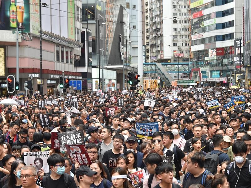 警方反對民陣831遊行及集會。資料圖片