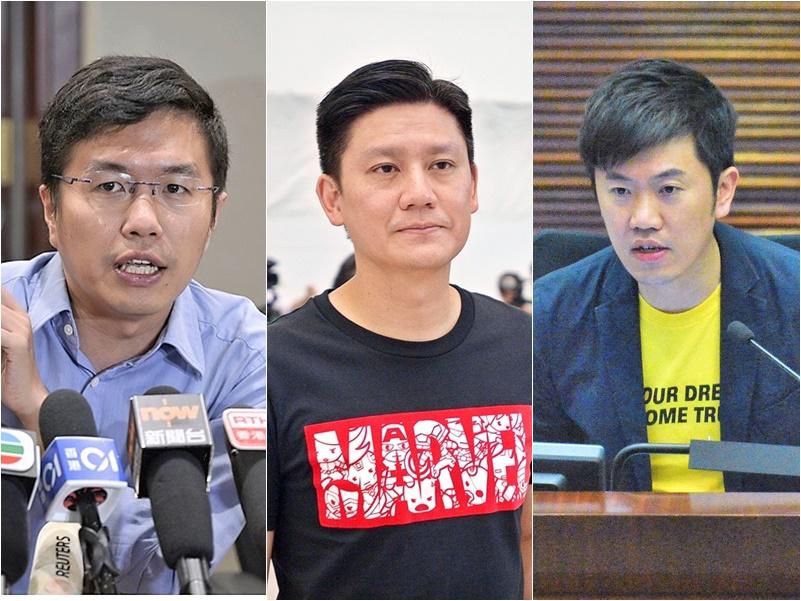 區諾軒、譚文豪及鄭松泰三位立法會議員先後被捕。
