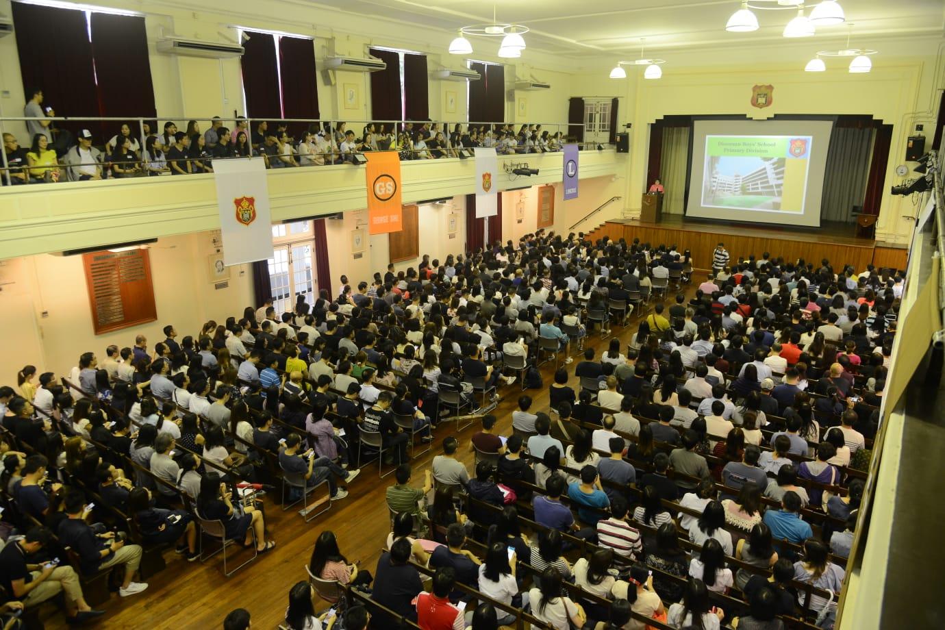 拔萃男書院附屬小學,於中學部舉行兩場小一入學簡介會。