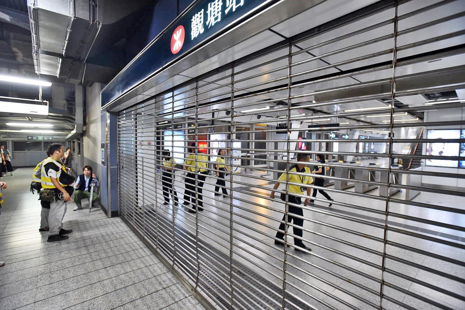 港鐵指多個車站受破壞 個別車站今早未必可重開
