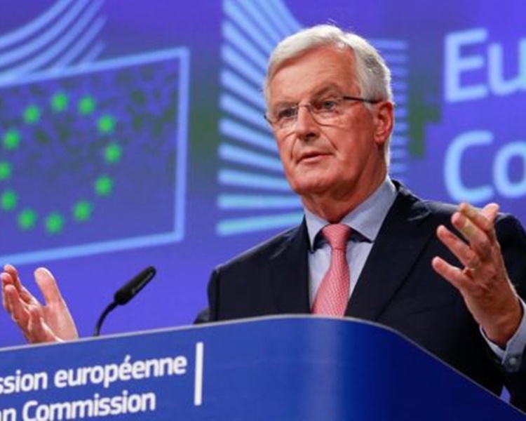 巴尼耶對避免英國無協議脫歐「並不樂觀」。AP