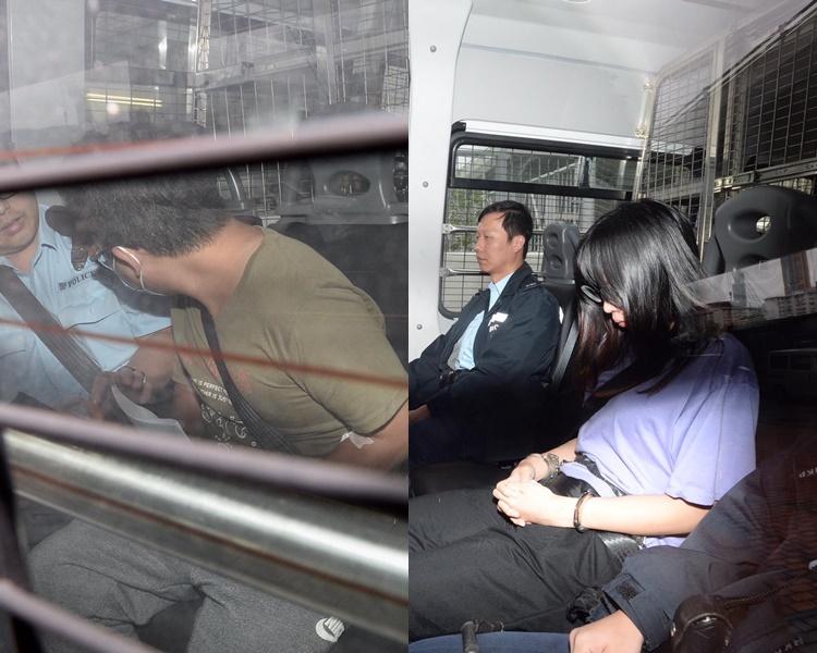 其中兩名被告被押上法庭。