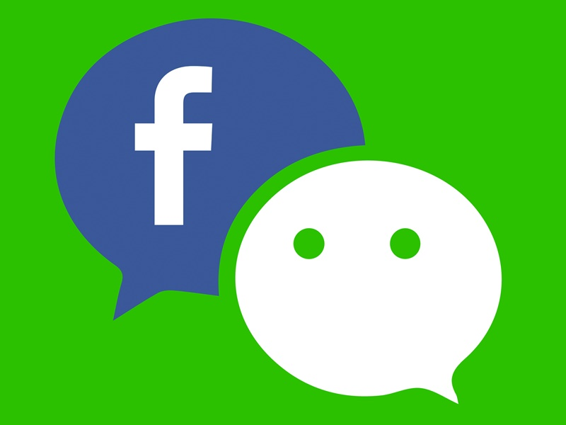 有網民發現微信(WeChat)會自動連接至facebook帳戶。網圖