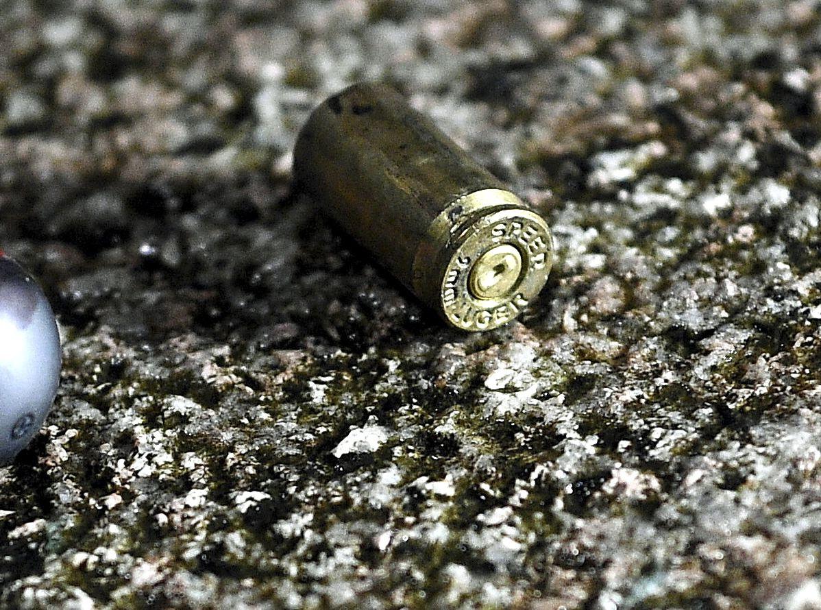 維園現場其後遺下懷疑子彈殼。資料圖片