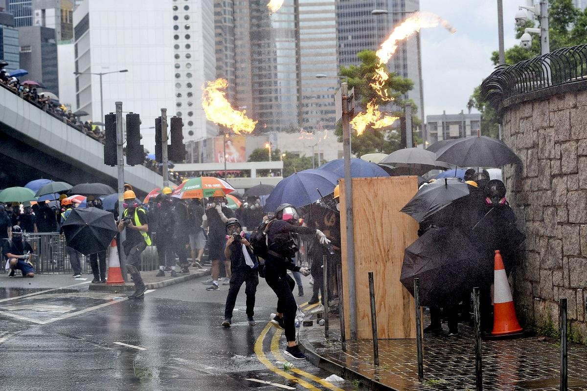 香港示威衝突不斷。資料圖片