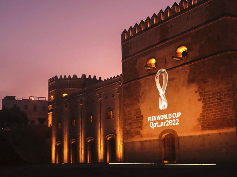 2022卡塔爾世界盃官方標誌正式公佈。AP