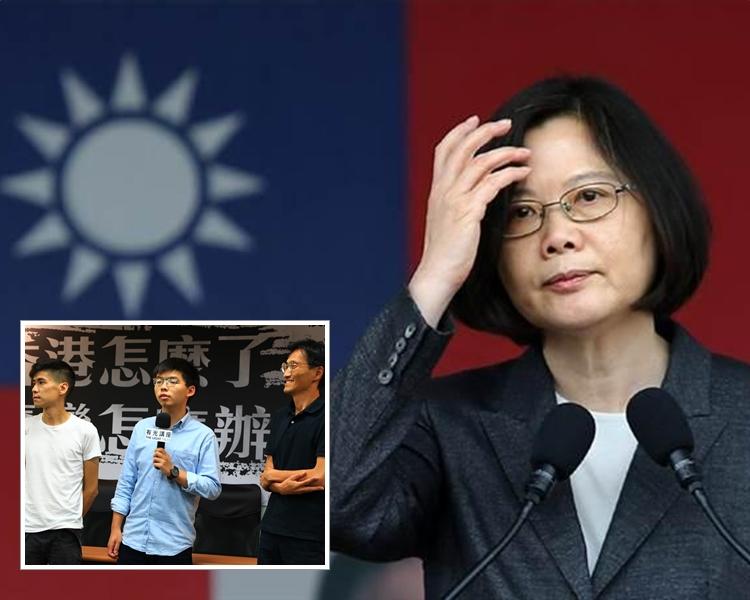 蔡英文表示支持但不介入,會在必要時提供香港人民必要協助。 資料圖片