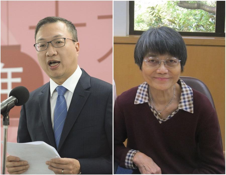 政府委任林定國(左)及余黎青萍(右)加入監警會。資料圖片