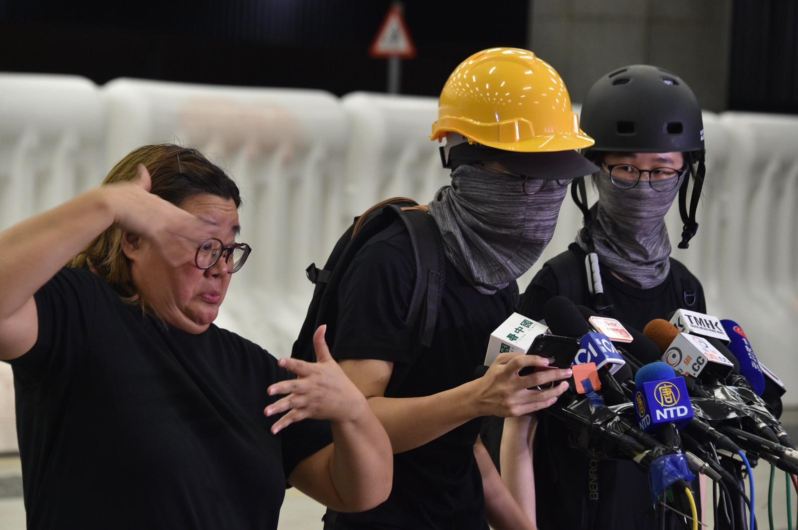 反修例示威者召開民間記者會