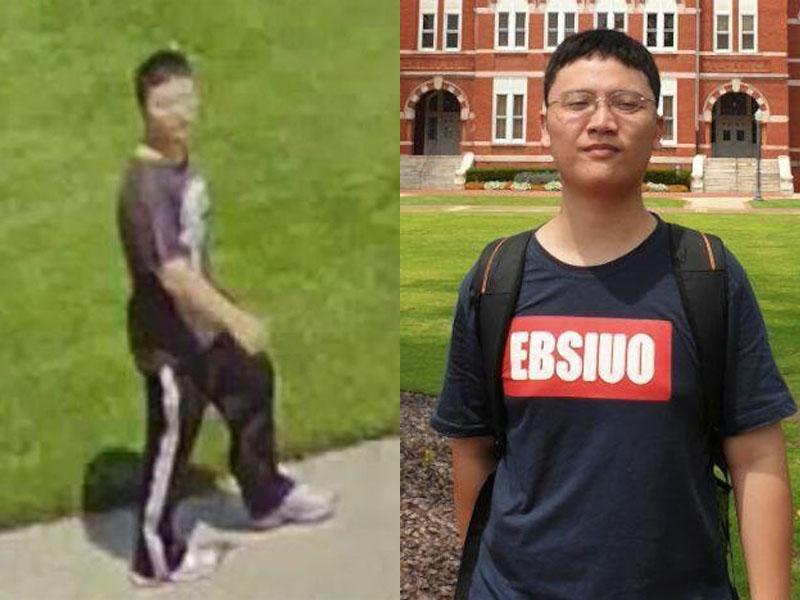 美國台灣留學生賴致愷失蹤17日,警公開最後出現畫面(左圖)。(網圖)