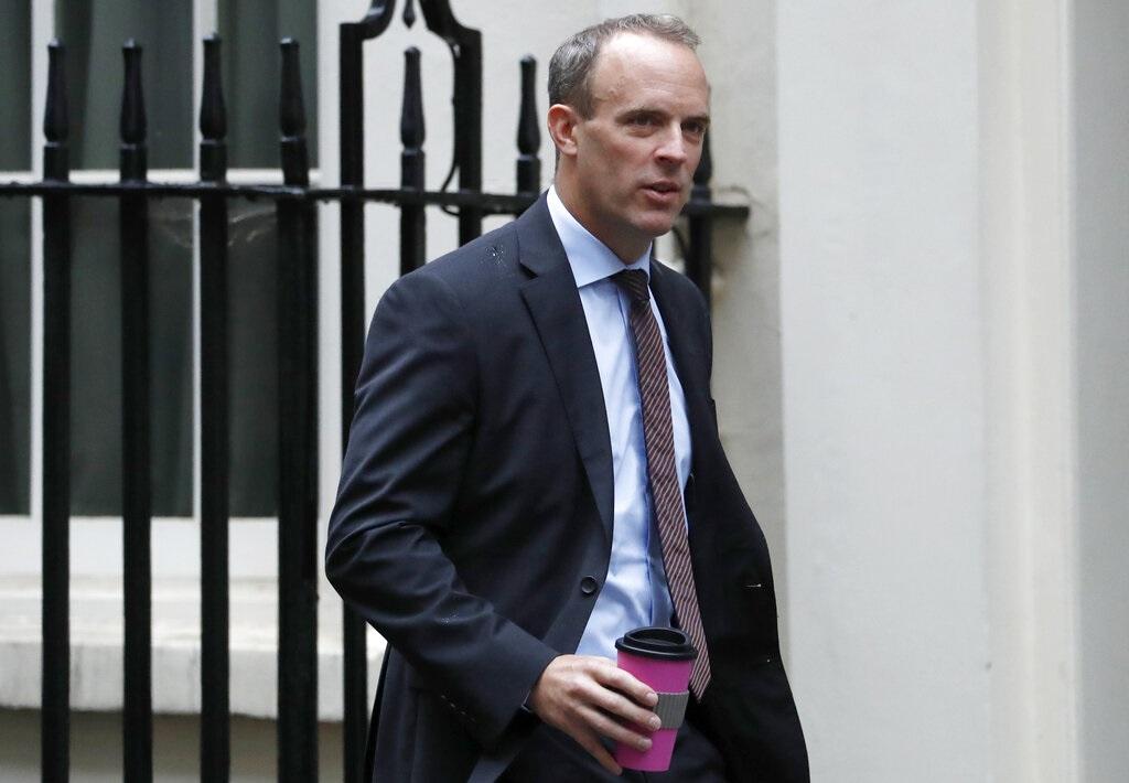 英國外相藍韜文表示歡迎林鄭月娥撤回修例。AP