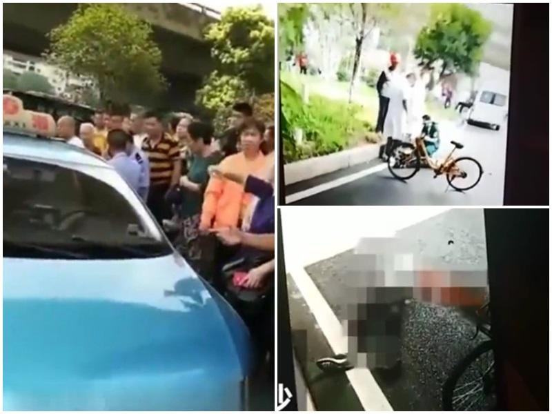長沙一的士乘客跳橋身亡,家屬向司機道歉並返還車資。影片截圖