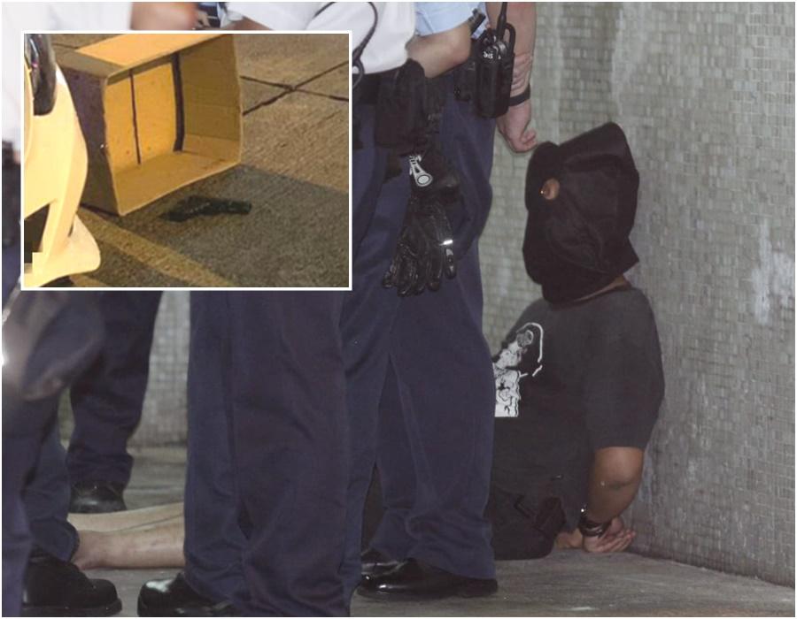 警方在場發現氣槍。資料圖片