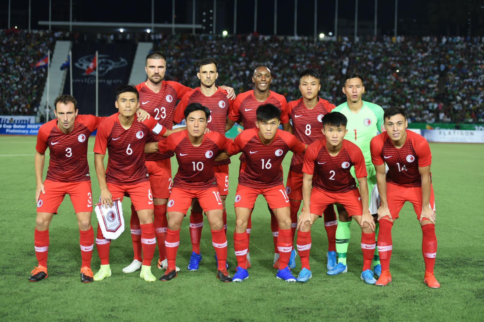 港足出戰世界盃亞洲區次圈外圍賽C組對作客柬埔寨,最後打成1:1各得一分。相片由足總提供