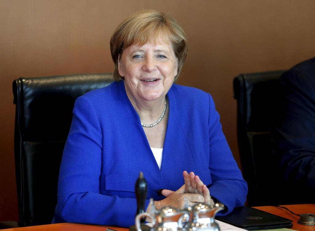 德國總理默克爾明天展開為期兩日訪問中國。AP圖片