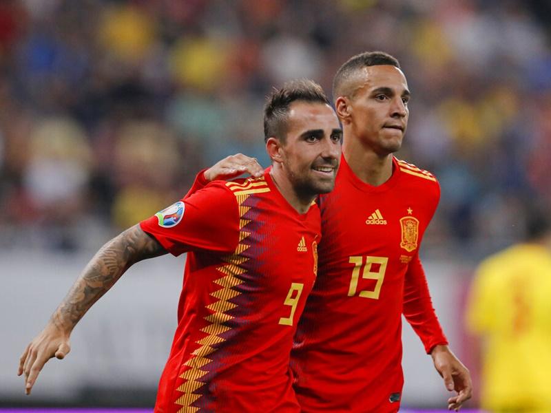 西班牙險勝羅馬尼亞。AP