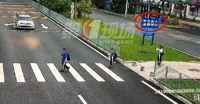 深圳校園區開車行駛沒有減速。網圖