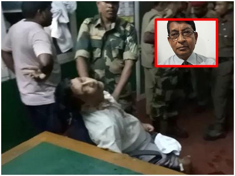 印度退休醫生杜塔因外出午膳未治療病人,遭民衆打死。網圖
