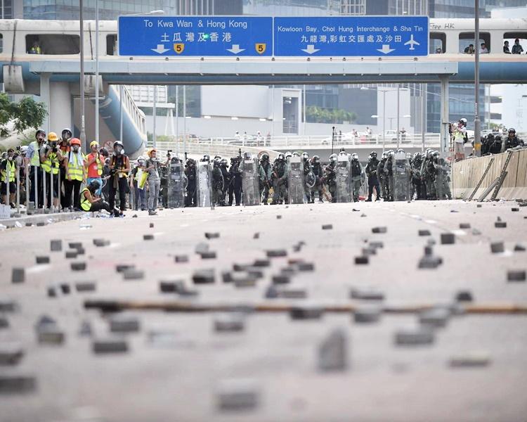 九龍灣8月24日發生反修例示威。資料圖片
