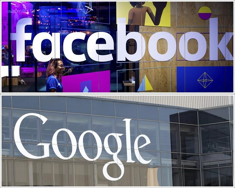 Google及facebook遭美數十州聯手調查。AP