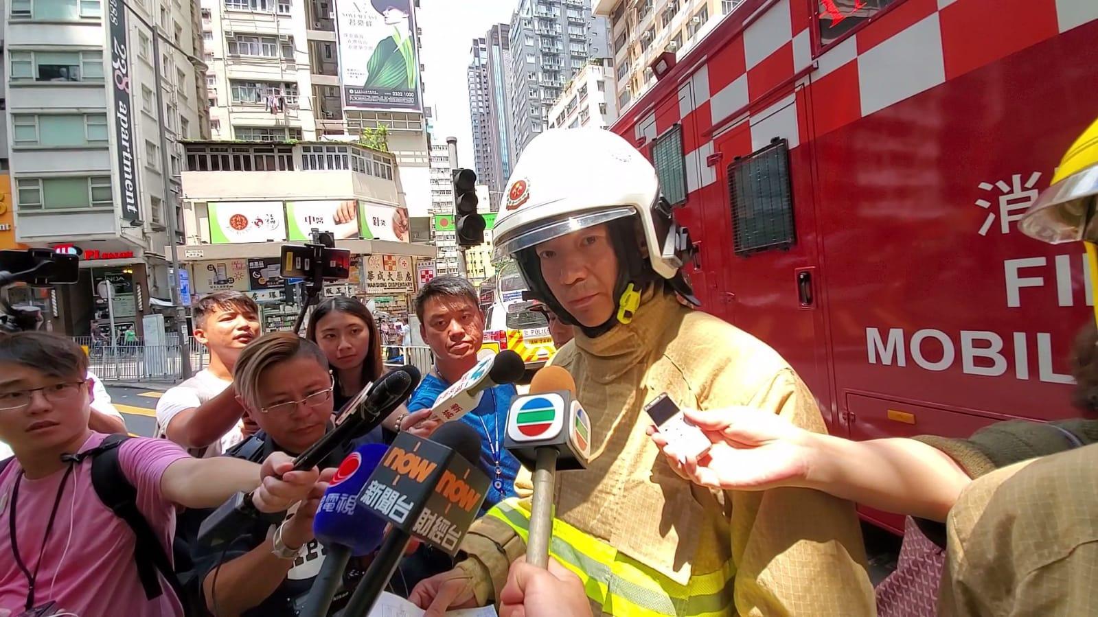 消防處分區指揮官楊啟宏。