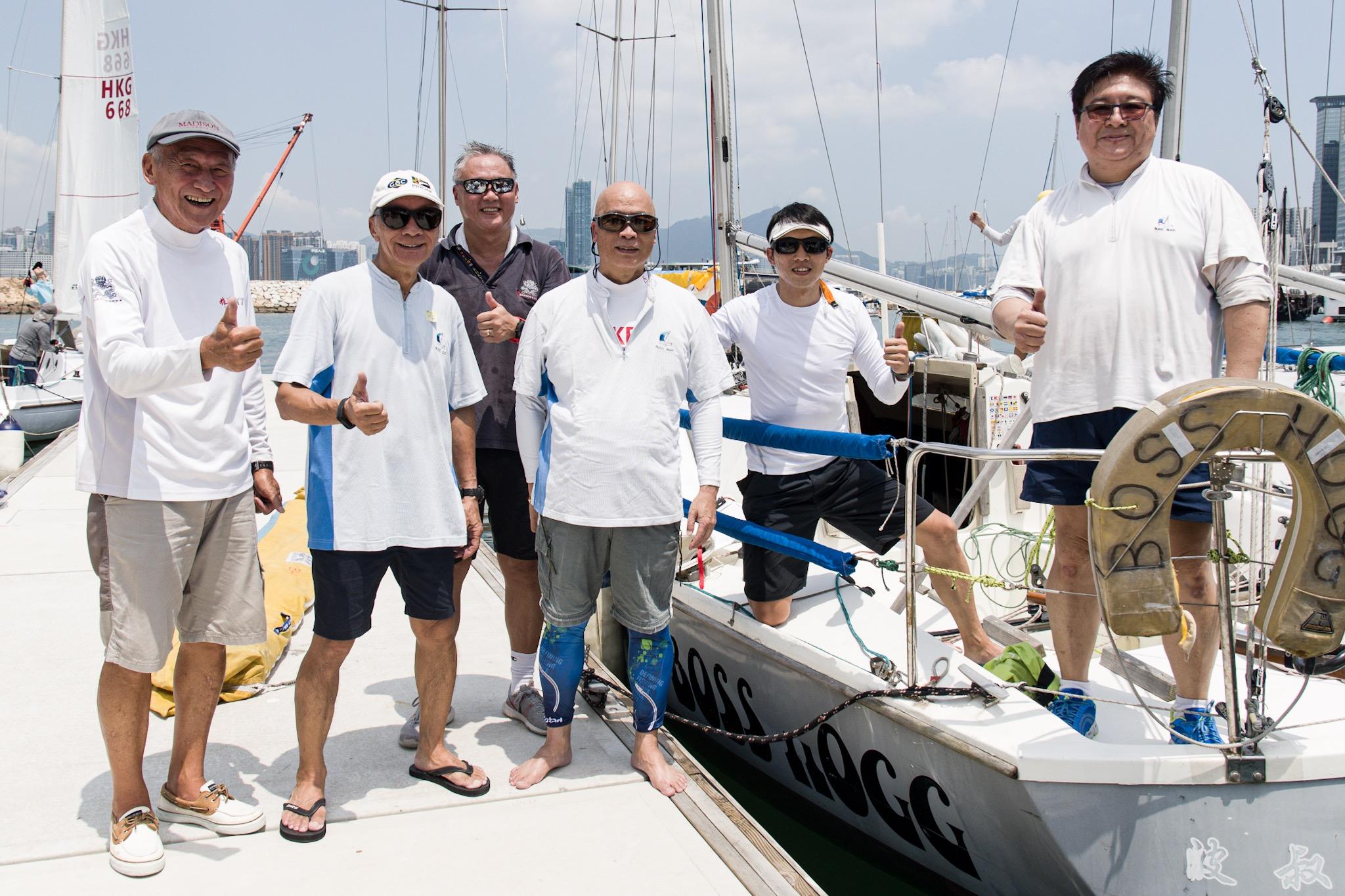 Boss Hogg號大部份船員,都是四十後銀髮族。相片由香港遊艇會提供