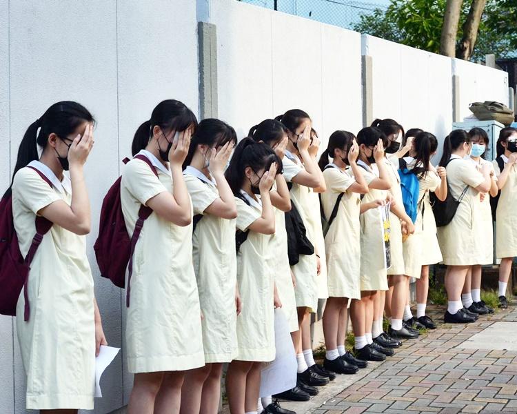 慈雲山學校區的人鏈。