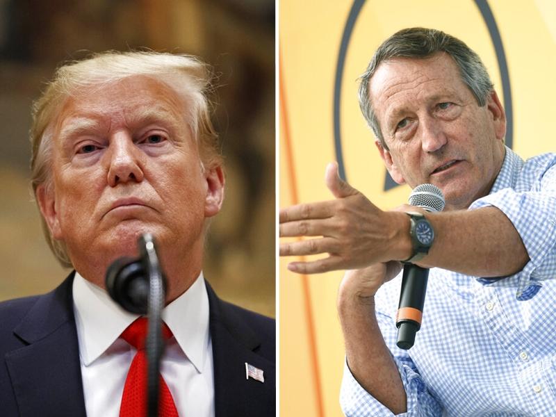 南卡羅來納州前州長桑福德(左)宣布,將角逐共和黨總統候選人提名。AP