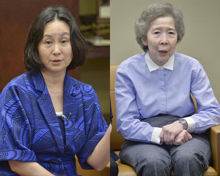 香港各界婦女聯合協進會主席何超瓊(左)和監察顧問伍淑清(右)。 資料圖片