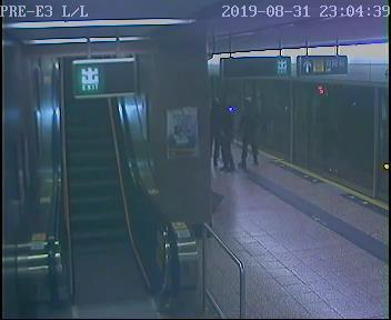 太子站 時序5)晚上11時04分,4號月台(荃灣綫往中環方向)列車駛離太子站前往油麻地站。 港鐵提供