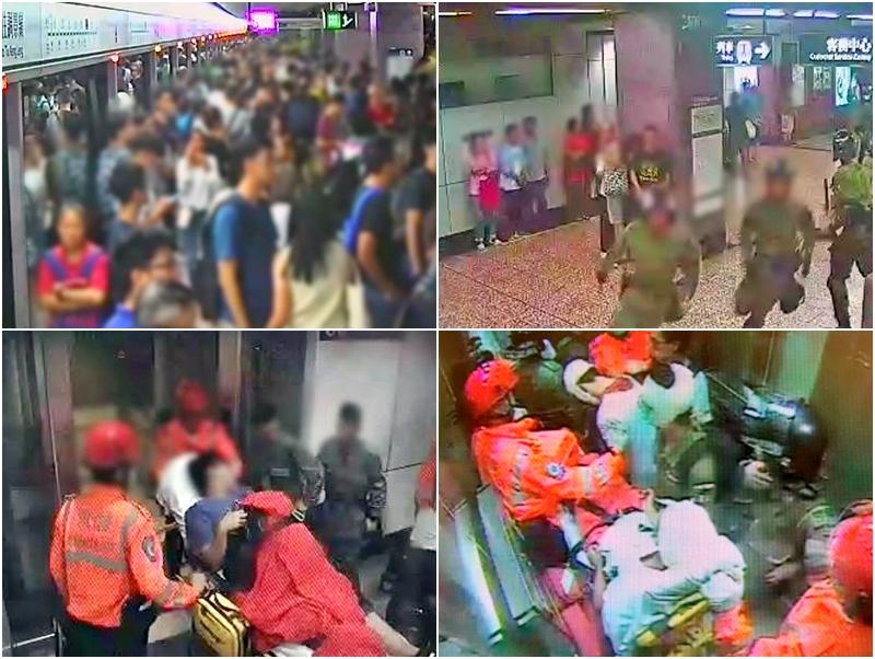 港鐵公布8.31事件的經過及閉路電視片後予公眾。 港鐵提供