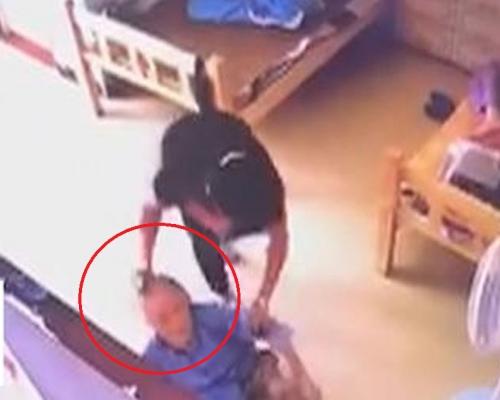 95歲老人在養老院遭虐待 被女護工扯頭髮拖行