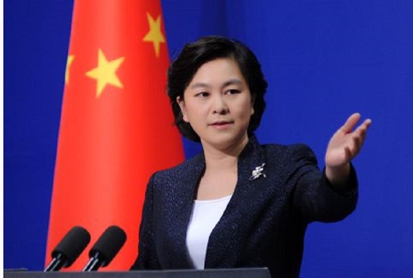 外交部發言人華春瑩。 網上圖片
