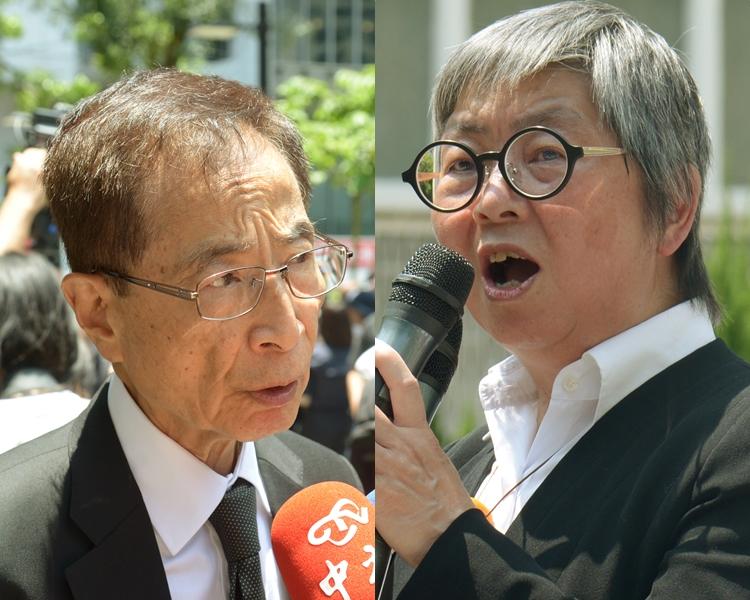 李柱銘(左)及吳靄儀(右)。 資料圖片