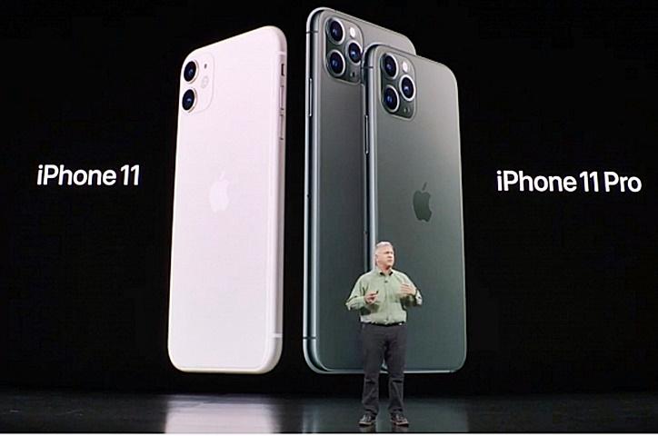 今年主打的iPhone11Pro採用三鏡設計。