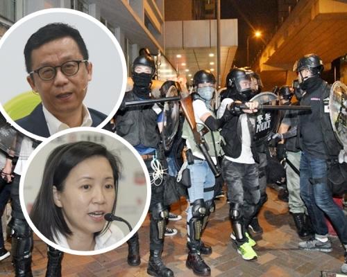 【修例風波】王維基袁莎妮等27人聯署 要求制止警察過份武力執法