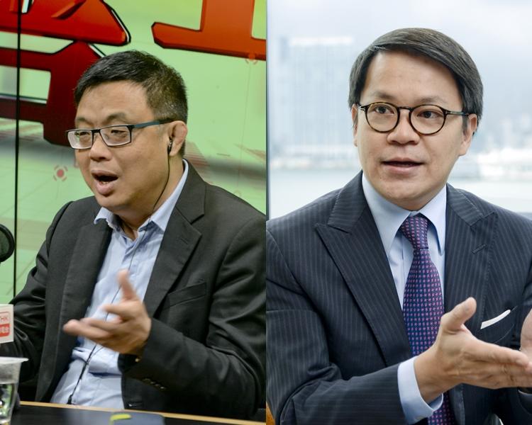 涂謹申(左);陳克勤(右)。 資料圖片