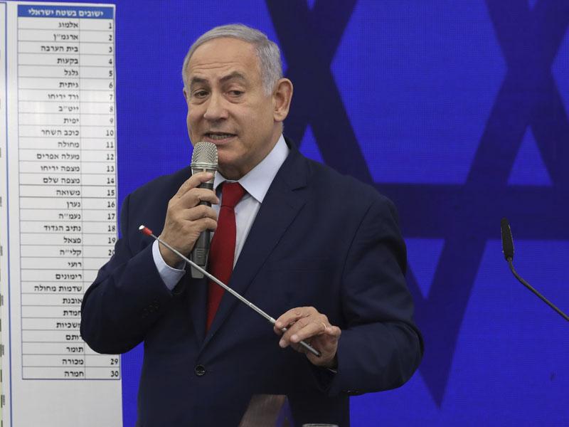 以色列總理內塔尼亞胡揚言吞併西岸部分地區。AP