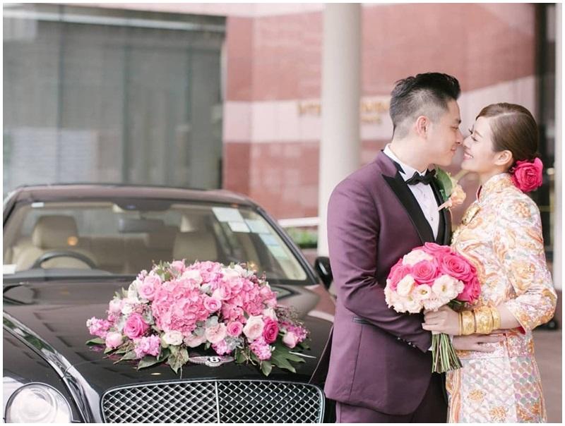 許芷熒上周二與圈外男友Alexander舉行婚禮。許芷熒ig