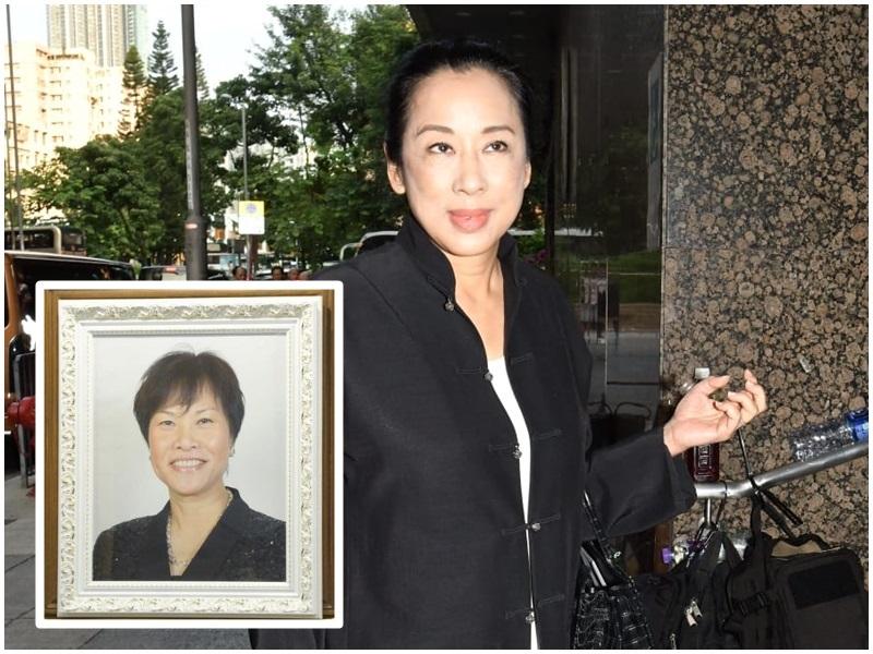 「港姐之母」設靈 朱玲玲參選時未相識 在慧妍雅集結緣42年。