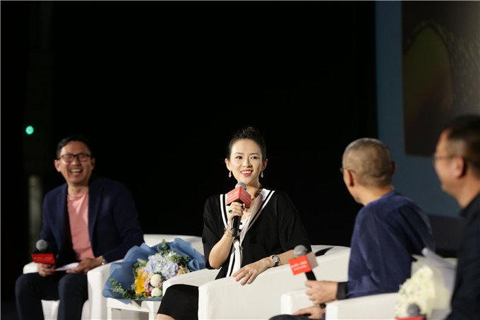 章子怡出席「章子怡從影20周年」作品展開幕式。網圖