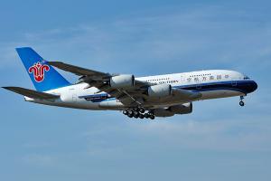 【1055】南航8月旅客周轉量升10.35%