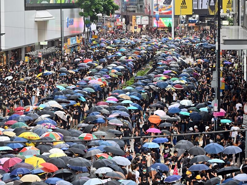 警方向民陣遊行發出反對通知書。資料圖片